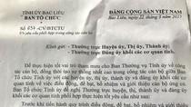 Trưởng Ban Tổ chức Tỉnh ủy Bạc Liêu tự ra văn bản trao quyền cho chính mình