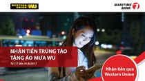 Tặng Iphone 7 cho khách hàng nhận tiền qua Western Union tại Maritime Bank