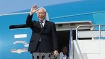Tổng Bí thư Nguyễn Phú Trọng lên đường thăm cấp Nhà nước Vương quốc Campuchia
