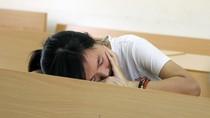 Thí sinh ngủ gục trước giờ thi năng khiếu