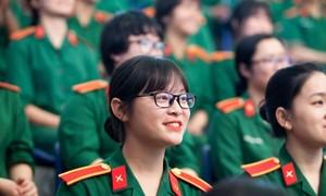 Năm 2019, thí sinh nữ có thể dự thi ở 4 Học viện quân đội