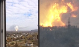 Video: Nhà máy hóa chất ở Donetsk phát nổ do trúng tên lửa Tochka-U