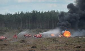 Mi-28 rơi trong triển lãm hàng không tại Nga