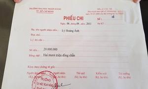 Kỳ lạ tờ phiếu chi ghi tiền triệu để tiếp cán bộ Ngân hàng nhà nước