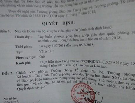 Thành phố Hồ Chí Minh lại đề nghị cử giáo viên đi tỉnh tập huấn