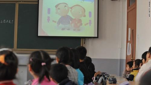 Học sinh tiểu học ở Bắc Kinh trong một giờ giáo dục giới tính
