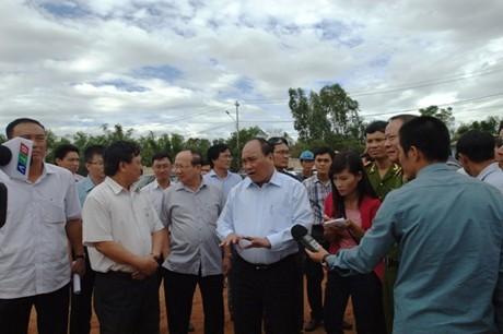 Phó Thủ tướng Nguyễn Xuân Phúc kiểm tra GPMB tại tại Bình Định