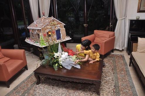 Bận rộn với công việc kinh doanh và tham gia vào các sự kiện văn hóa, giải trí, Hà Kiều Anh vẫn có thể dành hàng giờ để chơi và trò chuyện với con.