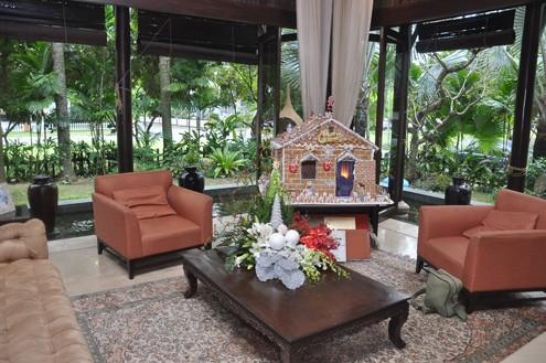 Vào những ngày Giáng Sinh về gần, ngôi nhà của hoa hậu Hà Kiều Anh ở quận 2, TP HCM ấm áp với những vật dụng trang trí gợi không khí Noel.