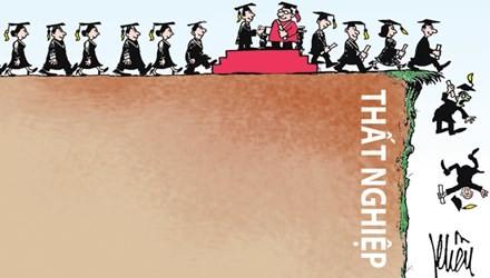 Sinh viên ra trường và tình trạng thất nghiệp (Ảnh minh họa trên tienphong.vn)