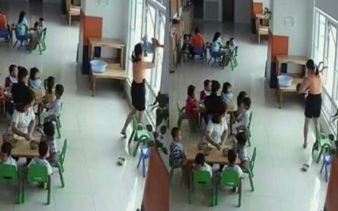 Cô giáo dốc ngược đầu trẻ ra cửa sổ ở Trường Apollo