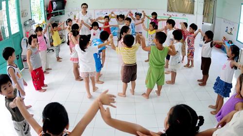 Hà Nội: Một học kỳ có 53 trường mầm non đạt chuẩn