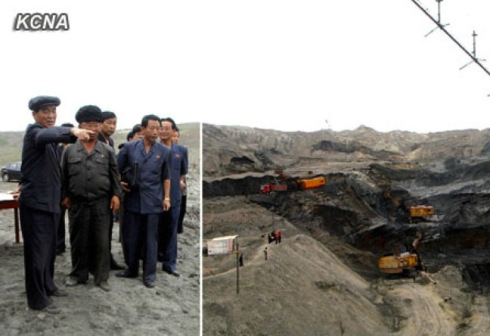 DPRK Cabinet Premier Pak Pong Ju tours the Tanch'o'n Smeltery (Photo: Rodong Sinmun).